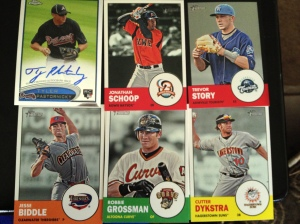 Most are 2012 Topps Heritage.
